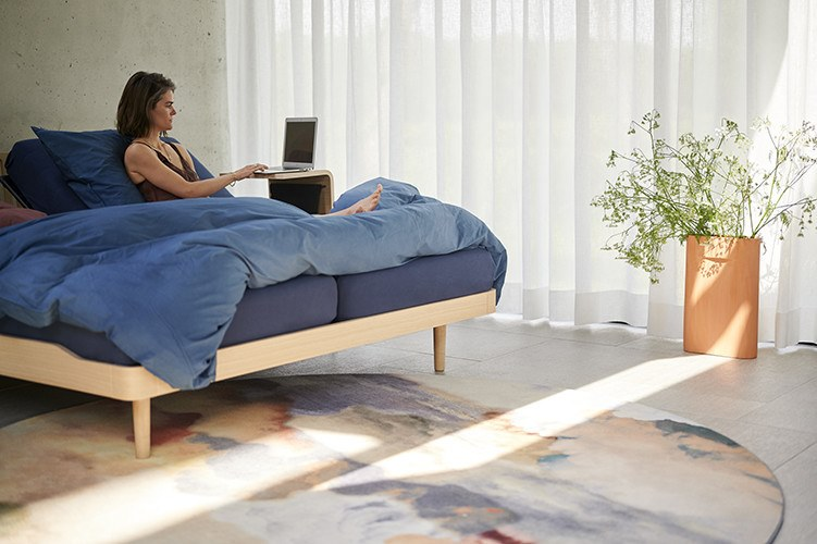 2b NOA Bed on castors Auping 472313 rel62d293fe i Vigna